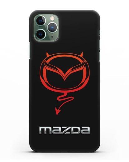 Чехол с логотипом Мазда Дьявол силикон черный для iPhone 11 Pro Max