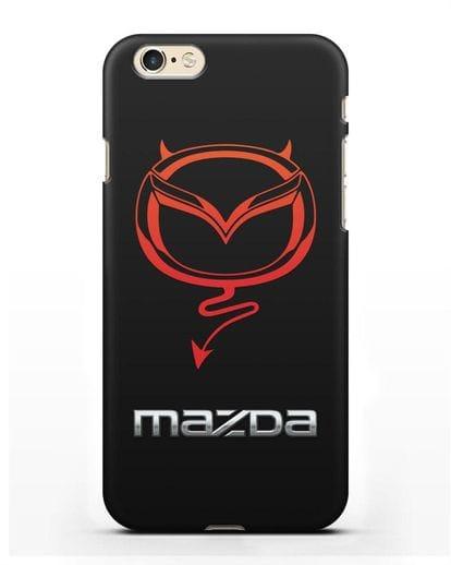 Чехол с логотипом Мазда Дьявол силикон черный для iPhone 6s