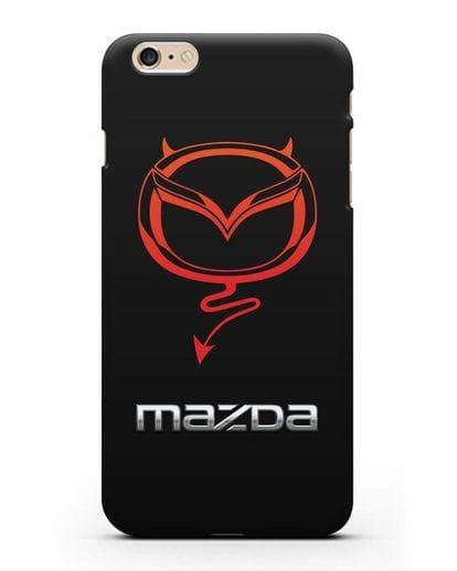 Чехол с логотипом Мазда Дьявол силикон черный для iPhone 6s Plus