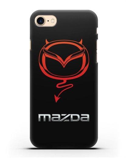 Чехол с логотипом Мазда Дьявол силикон черный для iPhone SE 2020