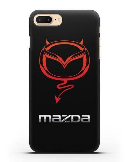 Чехол с логотипом Мазда Дьявол силикон черный для iPhone 8 Plus