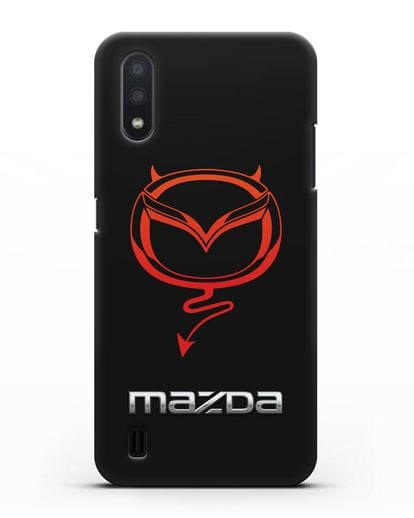 Чехол с логотипом Мазда Дьявол силикон черный для Samsung Galaxy A01 [SM-A015F]