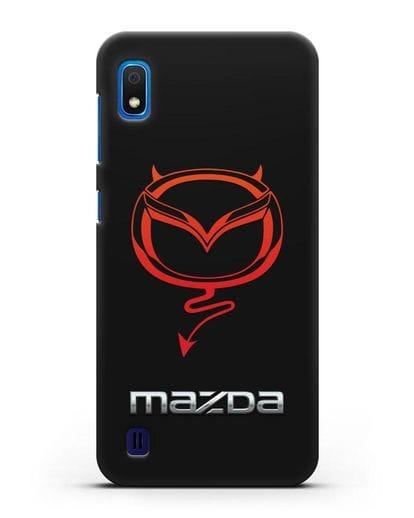 Чехол с логотипом Мазда Дьявол силикон черный для Samsung Galaxy A10 [SM-A105F]