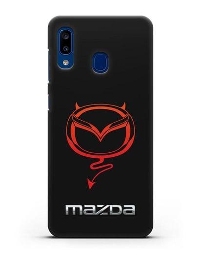 Чехол с логотипом Мазда Дьявол силикон черный для Samsung Galaxy A20 [SM-A205FN]