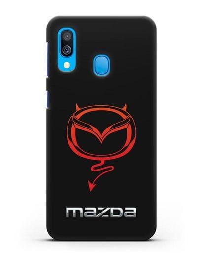 Чехол с логотипом Мазда Дьявол силикон черный для Samsung Galaxy A40 [SM-A405F]
