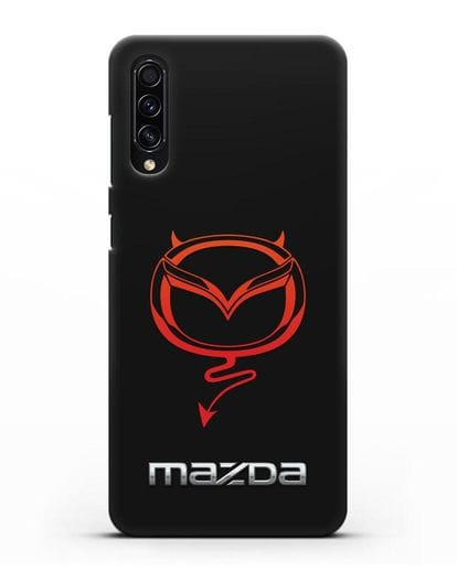 Чехол с логотипом Мазда Дьявол силикон черный для Samsung Galaxy A50s [SM-F507FN]