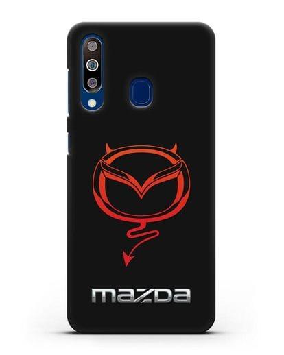 Чехол с логотипом Мазда Дьявол силикон черный для Samsung Galaxy A60 [SM-A606F]
