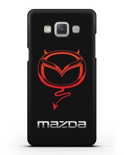 Чехол с логотипом Мазда Дьявол силикон черный для Samsung Galaxy A7 2015 [SM-A700F]