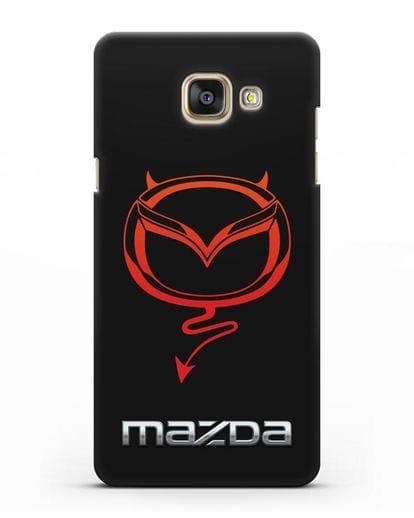 Чехол с логотипом Мазда Дьявол силикон черный для Samsung Galaxy A7 2016 [SM-A710F]