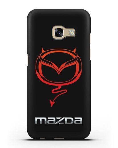 Чехол с логотипом Мазда Дьявол силикон черный для Samsung Galaxy A7 2017 [SM-A720F]