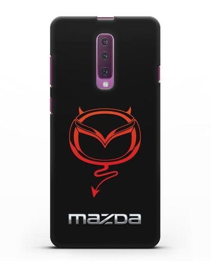 Чехол с логотипом Мазда Дьявол силикон черный для Samsung Galaxy A90 [SM-A908N]
