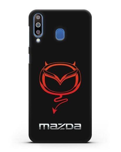 Чехол с логотипом Мазда Дьявол силикон черный для Samsung Galaxy M30 [SM-M305F]