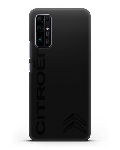 Чехол с надписью Citroen и логотипом силикон черный для Honor 30 Pro