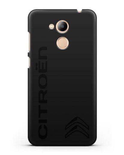 Чехол с надписью Citroen и логотипом силикон черный для Honor 6C Pro