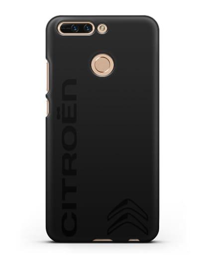 Чехол с надписью Citroen и логотипом силикон черный для Honor 8 Pro