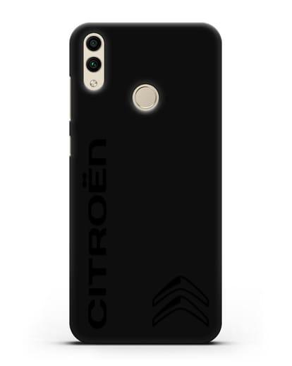 Чехол с надписью Citroen и логотипом силикон черный для Honor 8C