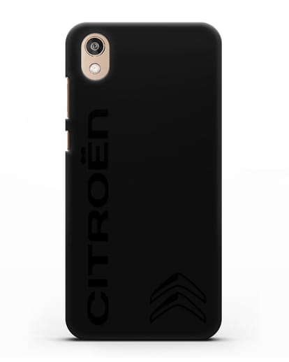 Чехол с надписью Citroen и логотипом силикон черный для Honor 8S