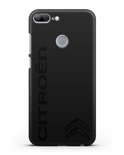 Чехол с надписью Citroen и логотипом силикон черный для Honor 9 Lite