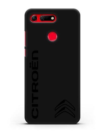 Чехол с надписью Citroen и логотипом силикон черный для Honor View 20
