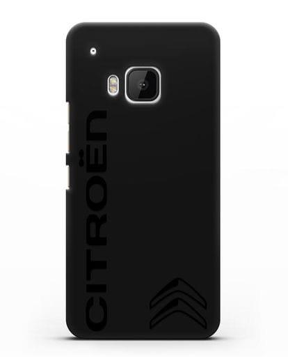 Чехол с надписью Citroen и логотипом силикон черный для HTC One M9