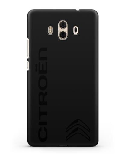 Чехол с надписью Citroen и логотипом силикон черный для Huawei Mate 10
