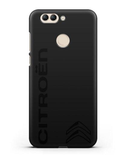 Чехол с надписью Citroen и логотипом силикон черный для Huawei Nova 2 Plus