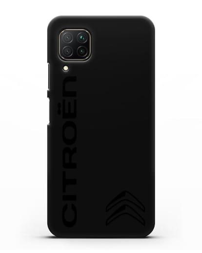 Чехол с надписью Citroen и логотипом силикон черный для Huawei P40 lite