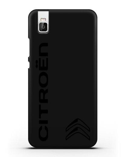 Чехол с надписью Citroen и логотипом силикон черный для Huawei Shot X