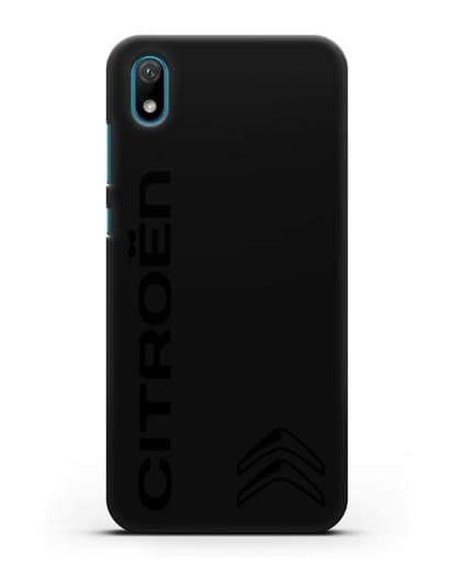 Чехол с надписью Citroen и логотипом силикон черный для Huawei Y5 2019