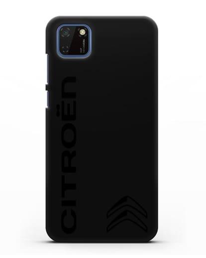 Чехол с надписью Citroen и логотипом силикон черный для Huawei Y5P