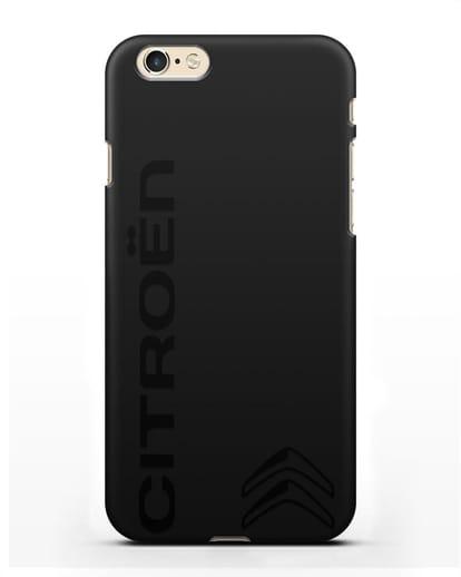 Чехол с надписью Citroen и логотипом силикон черный для iPhone 6s