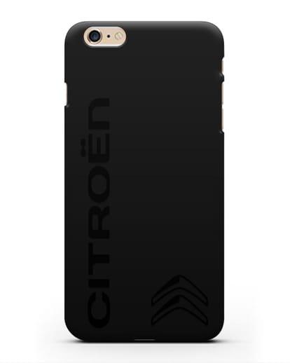 Чехол с надписью Citroen и логотипом силикон черный для iPhone 6 Plus