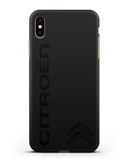 Чехол с надписью Citroen и логотипом силикон черный для iPhone XS Max