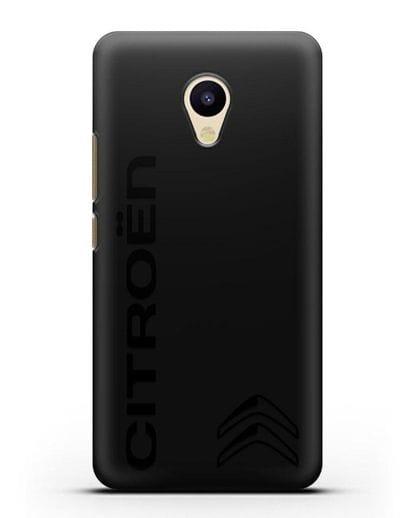 Чехол с надписью Citroen и логотипом силикон черный для MEIZU M5