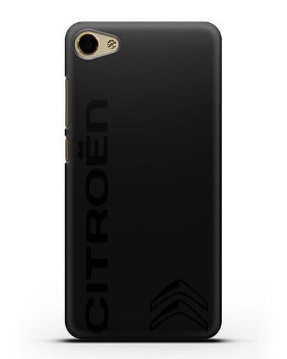 Чехол с надписью Citroen и логотипом силикон черный для MEIZU U10