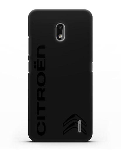 Чехол с надписью Citroen и логотипом силикон черный для Nokia 2.2 2019
