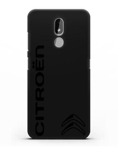 Чехол с надписью Citroen и логотипом силикон черный для Nokia 3.2 2019