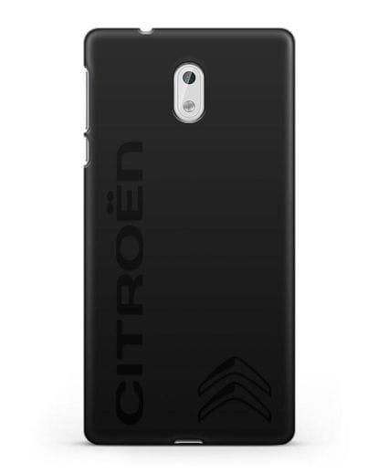 Чехол с надписью Citroen и логотипом силикон черный для Nokia 3