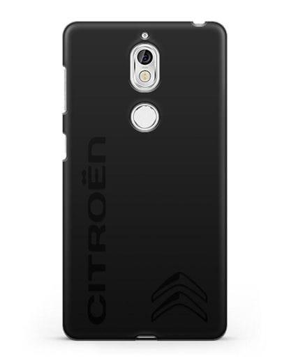 Чехол с надписью Citroen и логотипом силикон черный для Nokia 7