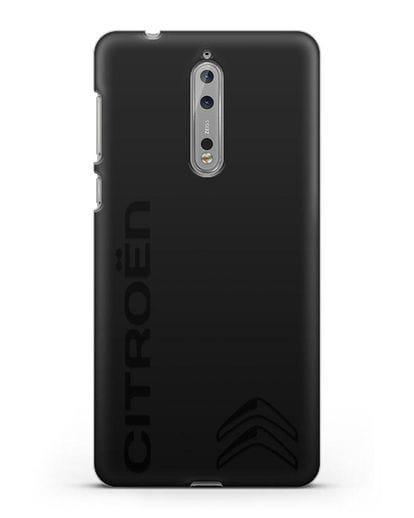 Чехол с надписью Citroen и логотипом силикон черный для Nokia 8