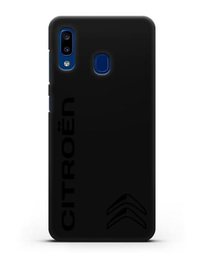 Чехол с надписью Citroen и логотипом силикон черный для Samsung Galaxy A20 [SM-A205FN]