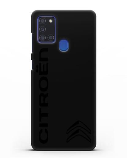 Чехол с надписью Citroen и логотипом силикон черный для Samsung Galaxy A21s [SM-A217F]