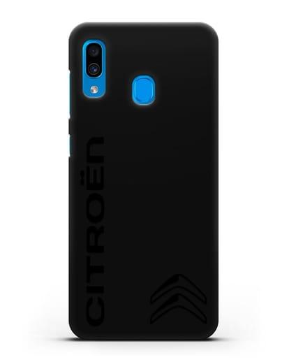 Чехол с надписью Citroen и логотипом силикон черный для Samsung Galaxy A30 [SM-A305FN]