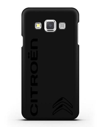 Чехол с надписью Citroen и логотипом силикон черный для Samsung Galaxy A3 2015 [SM-A300F]