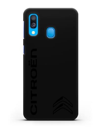 Чехол с надписью Citroen и логотипом силикон черный для Samsung Galaxy A40 [SM-A405F]