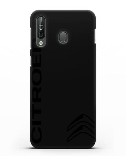 Чехол с надписью Citroen и логотипом силикон черный для Samsung Galaxy A40s [SM-A507FN]