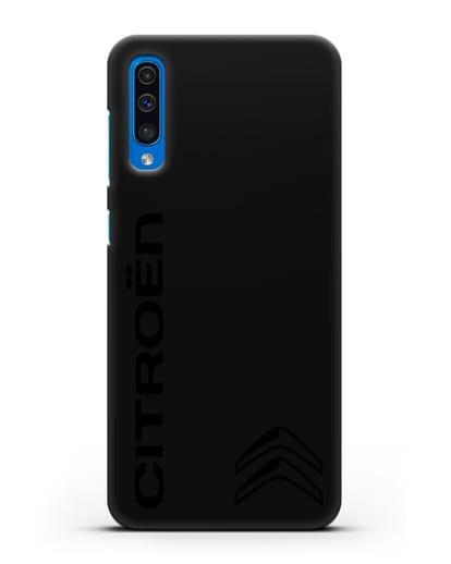 Чехол с надписью Citroen и логотипом силикон черный для Samsung Galaxy A50 [SM-A505F]