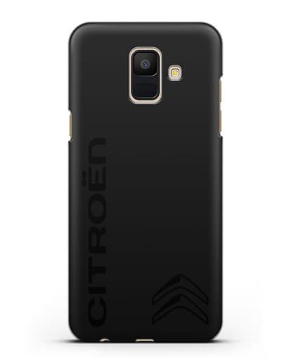 Чехол с надписью Citroen и логотипом силикон черный для Samsung Galaxy A6 2018 [SM-A600F]