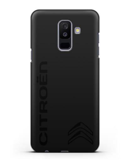 Чехол с надписью Citroen и логотипом силикон черный для Samsung Galaxy A6 Plus 2018 [SM-A605F]