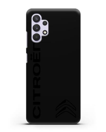 Чехол с надписью Citroen и логотипом силикон черный для Samsung Galaxy A32 [SM-A325F]